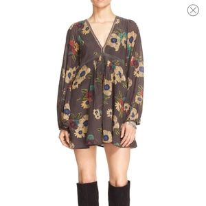 Free People Strawberry Fields Floral Print Dress M